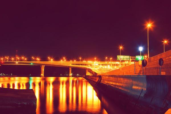 広島 海田大橋 夜景